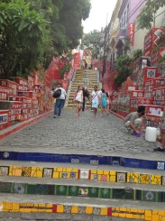 Stairs of Selaron in Lapa