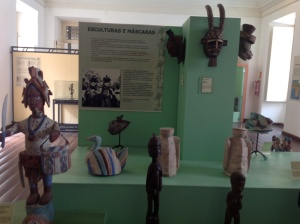Masks of Benin in Mafro, the Afro Brazilian Museum