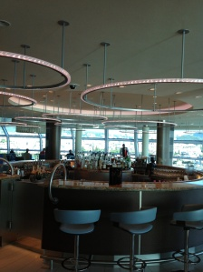 Sky Lounge Bar. Ship Docked at Kusadasi
