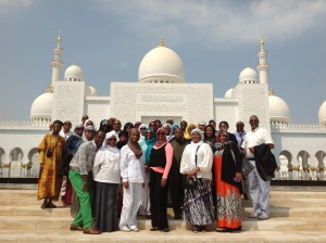 Our group before entering the Mosque
