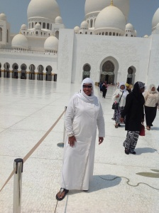 Kat leaving the Mosque