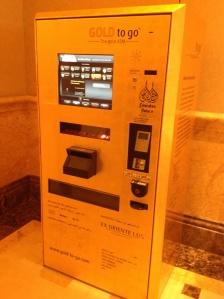 Gold ATM in hotel lobby