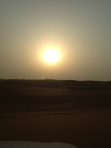 Sun setting Over the Dunes