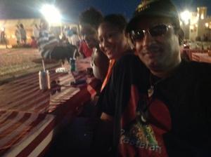 Papi with Cousin Kutina and So'Mone of Chicago, enjoying Arabian Nights