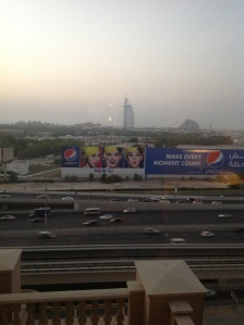 View from living room with Burj Al Arab in  the backdrop