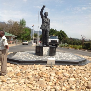 Mandela Statue in front of Drakenstein Correctional Center