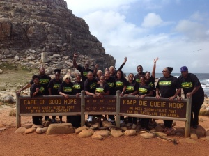 Representing at the Most South Western Point of the African Continent