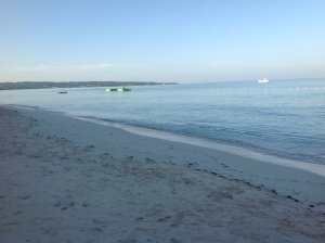 Mornings on Negril beach
