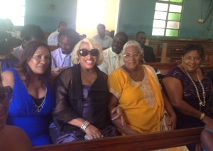 Auntie Bev, me, Ms Mavis, Auntie Julie
