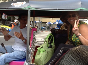 Sandy and Yolanda in a Tuk Tuk
