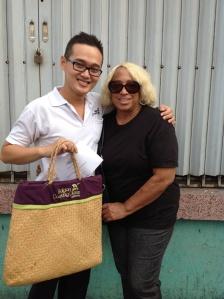 Meeting Chef Khang at the market