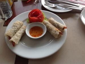 Nem crevettes for lunch