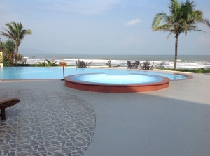 China Beach from beach vat at Sandy Beach Hotel