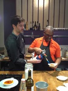Chef Bruce Torching Creme Brûlée