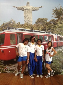 Brazilian School Girls  at Cristo Redentor
