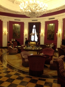 Sitting room at the Baglioni