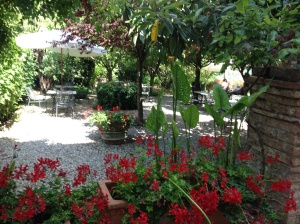 Garden Area at Santa Caterina Hotel