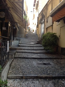 The Main Stairway in The Town of Bellagio