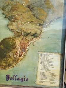 Posted Map of Bellagio in the Town