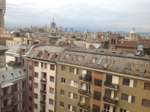 View of the Duomo (cathedral) from my 9th floor room.