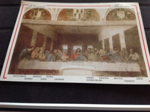 Last Supper postcard. Photos not Allowed Inside