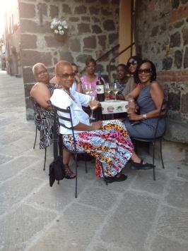 Enjoying wine at Enoteca La Stella