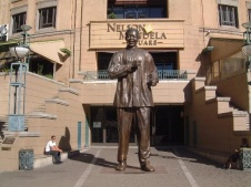 Nelson Mandela Square, next to Michaelanglo Hotel