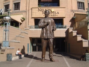 Nelson Mandela Square, next to Michaelanglo Hotel