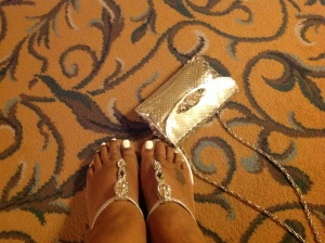Not a Shopper but Kat can't resist a pair of sexy, sassy  sandals --imported from Greece with Swarovski crystals. They happened to catch my eye in passing
