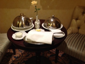 Nice Room Service Presentation--- only soup and salad