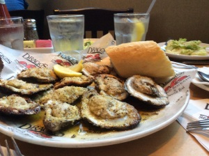 Charbroiled Oysters at Dragos. What a treat!