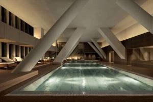 Indoor pool at Tokyo hotel