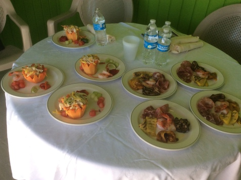 5 course gourmet lunch privately served by our attendants