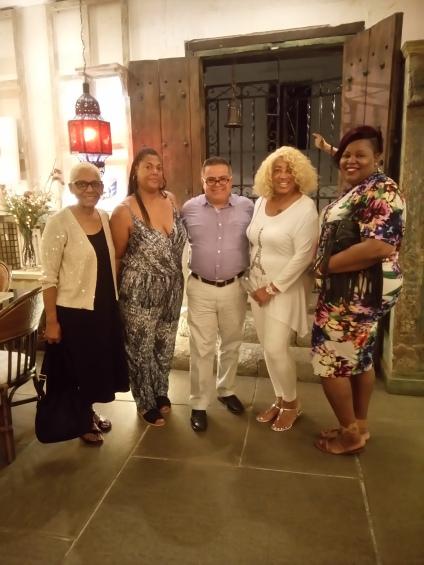 Diva, Angelique, Edgar, Brandy at The fab A. Contemporanea restaurant