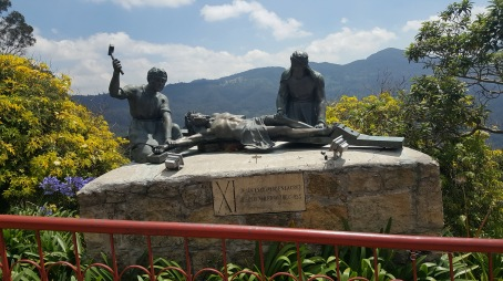 Jesus Nailed to the Cross on Montserrat