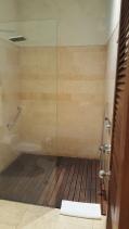 Wooden Planks on Shower Floor