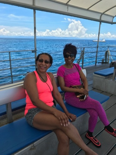 Glenda and Gwen at the Reef