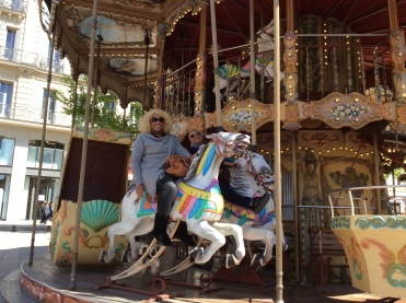 A carousel! What fun!