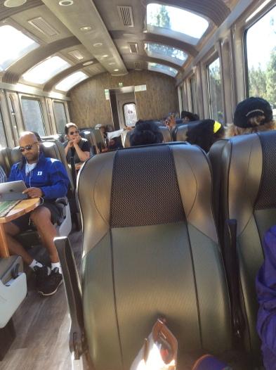 Aboard the Vistadome Train
