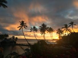 Fijiian Sunset at Dinner