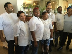 Acclaimed Chef and his Team