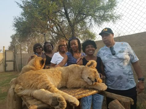 At the Lion Park in Joburg