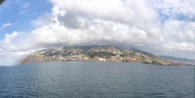 Sailing in to Funchal, Madeira Islands