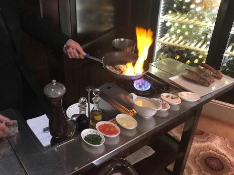 Lobster Prepared Tableside in Murano