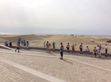 Sand Dunes behind RIUDEBRA Hotel, Las Palmas