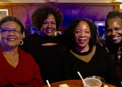 At Snug Harbor Jazz Bistro... Lovely KATTRAX VIPs: Della Casey, Lucille Johnson, Audrey Kay and Darlene Daevu