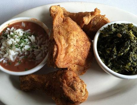 Collards, Red Beans, Fried Chicken on Hit