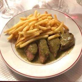 Great Steak and frites at Le Relais