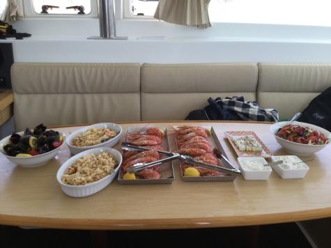 Lunch Prepared by Chef Felipe