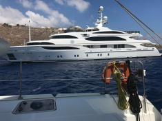 Yachts Abound in Mykonos